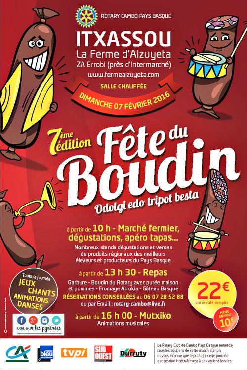 Itxassou : la Fête du Boudin 2016