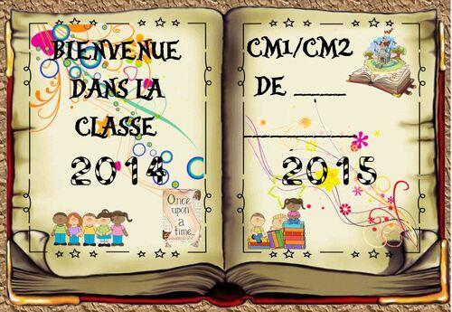 thème de classe 2014-2015 : le CONTE - affiche de porte