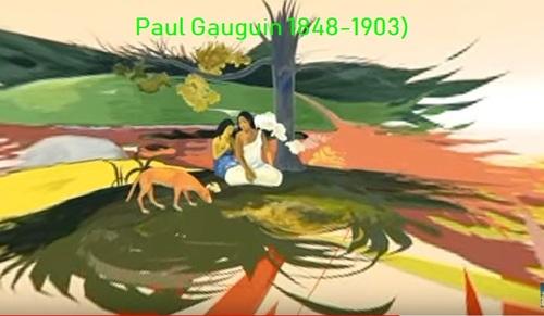 Dessin et peinture - vidéo 2837 : Le voyage intérieur de Paul Gauguin - peintre impressionniste Français (1848-1903 )