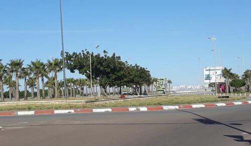 Grand ciel bleu à Essaouira ce matin