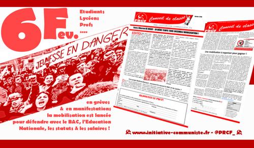 mardi 6/02 : les profs, élèves, étudiants et parents d'élèves mobilisés contre la casse de l'Education Nationale #cassepasmonbac #NonALaSelection