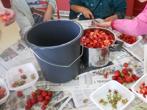 Confiture de fraises pour maman