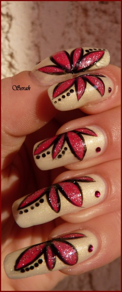 Nail art NailAngel Flowers!