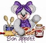 Résultat d'image pour Gif et Bon appétit bien Sur. Taille: 108 x 100. Source: aidedegilda.blogspot.com