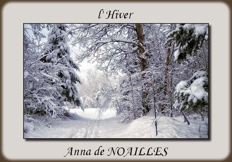 """"""" l'Hiver """" poème d' Anna de NOAILLES"""