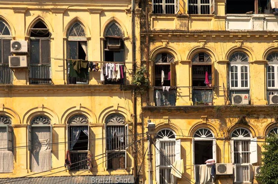 façades victoriennes,rangoun