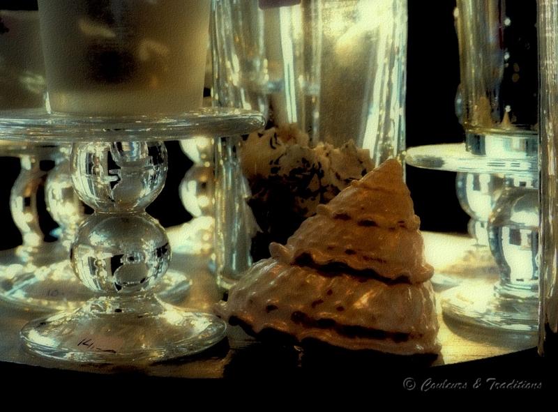 Verrerie et coquillage