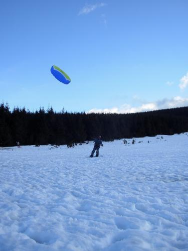 Session snowkite aux Estables