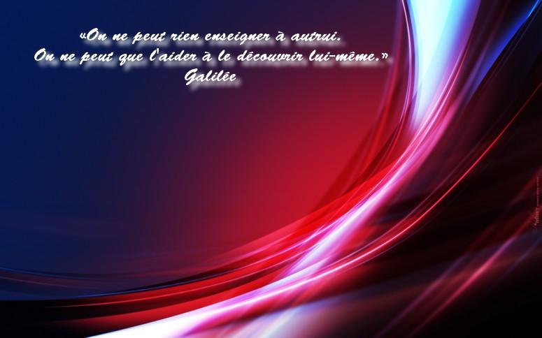 Citation de Galilée