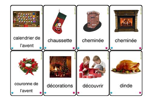cartes à jouer Noël lexique série 2