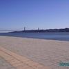 Lisbonne - Bâteau et pont sur le Tage
