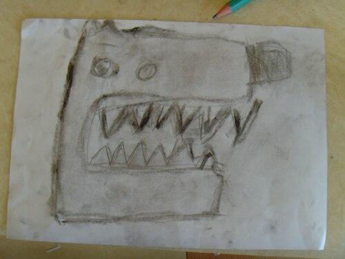 dessin dirigé du loup
