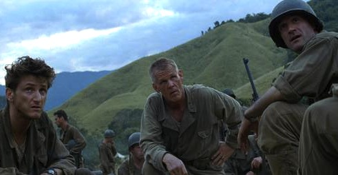 Nick Nolte Sean Penn Elias Koteas The thin red line terrence Malick