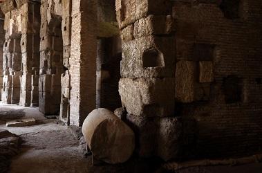 Les entrailles du Colisée ...