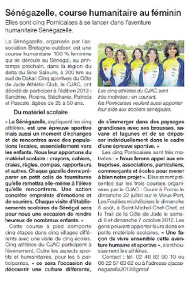 Article du Ouest-France