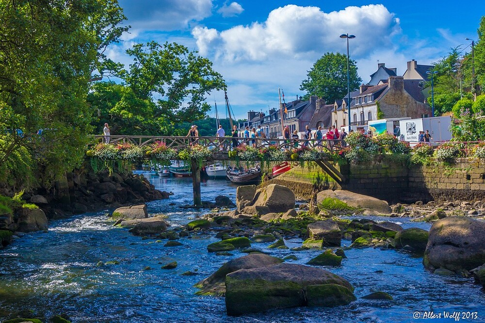 Bretagne  - 6 août - Pont Aven   - Y a pas que des galettes...