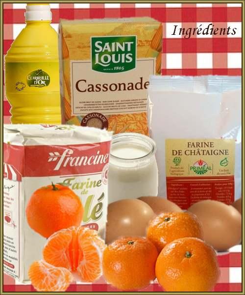 recette de cuisine : Gâteau aux clémentines et à la farine de châtaigne