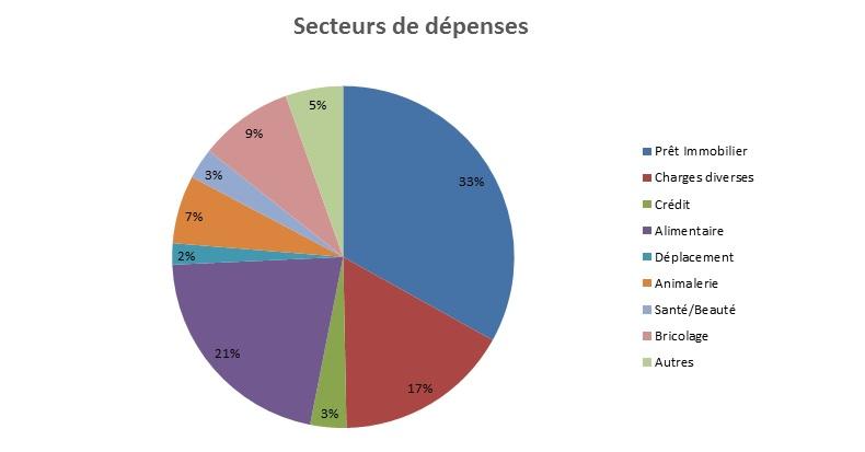 graphique dépenses défi conso