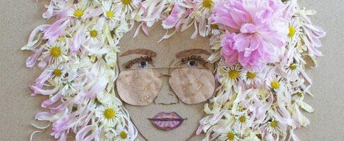 Des fleurs et des feuilles dans des portraits à couper le souffle de l'artiste Vicki Rawlins