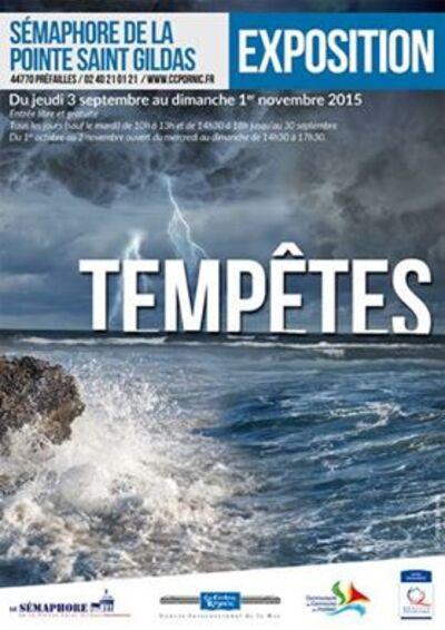 """Préfailles, Exposition """"TEMPETES"""" au Sémaphore de la Pointe St Gildas"""