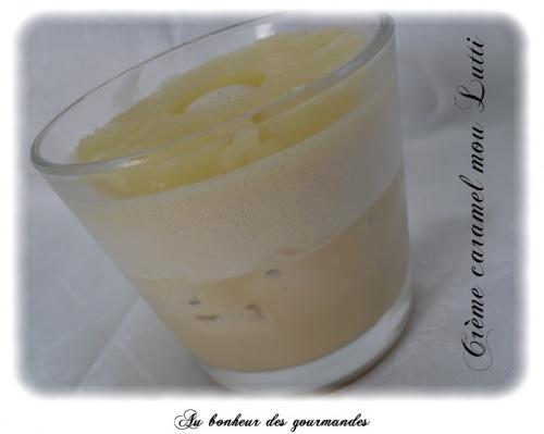 Crème dessert mousseuse aux caramels moux Lutti