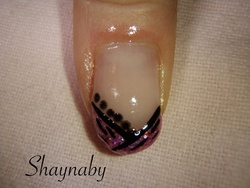 French en gel mauve