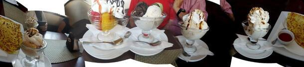 Voilà nos glaces et crêpe