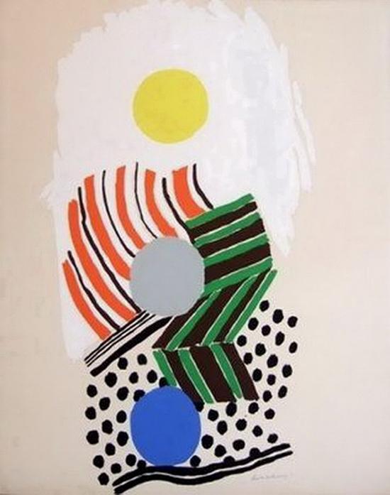 Sonia Delaunay, La plage, 1973