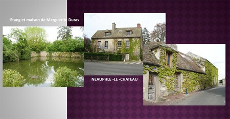 La maison de Marguerite Duras (1914-1996) à Neauphle-le-Château