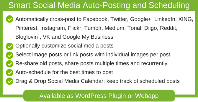 Blog2Social provides you with a ready to use social media scheduler for the best times to post on each social network