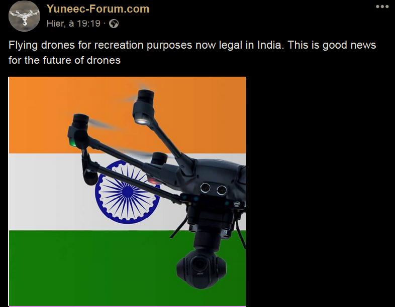 LES DRÔNES récréatifs autorisés en Inde