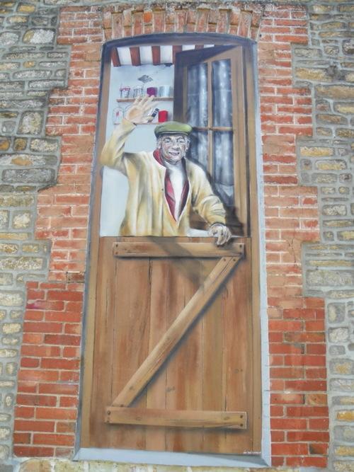 Mur peint à Clécy