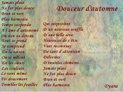 Blog de dyane :Traces de Vie, Douceur d'automne