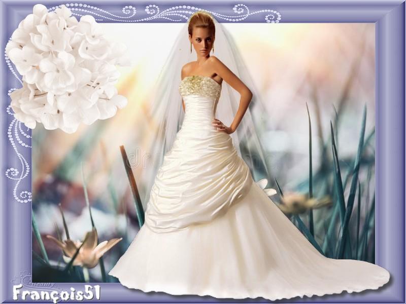La  mariée tout en blanc pour Beauty défi!