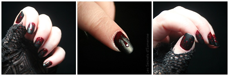nail art vampire sanglant