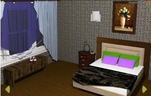 Grey bedroom escape