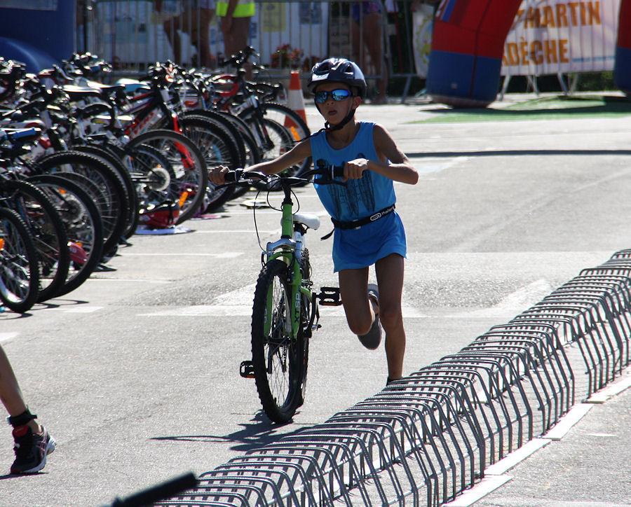 Le triathlon enfants de St Martin D'Ardèche