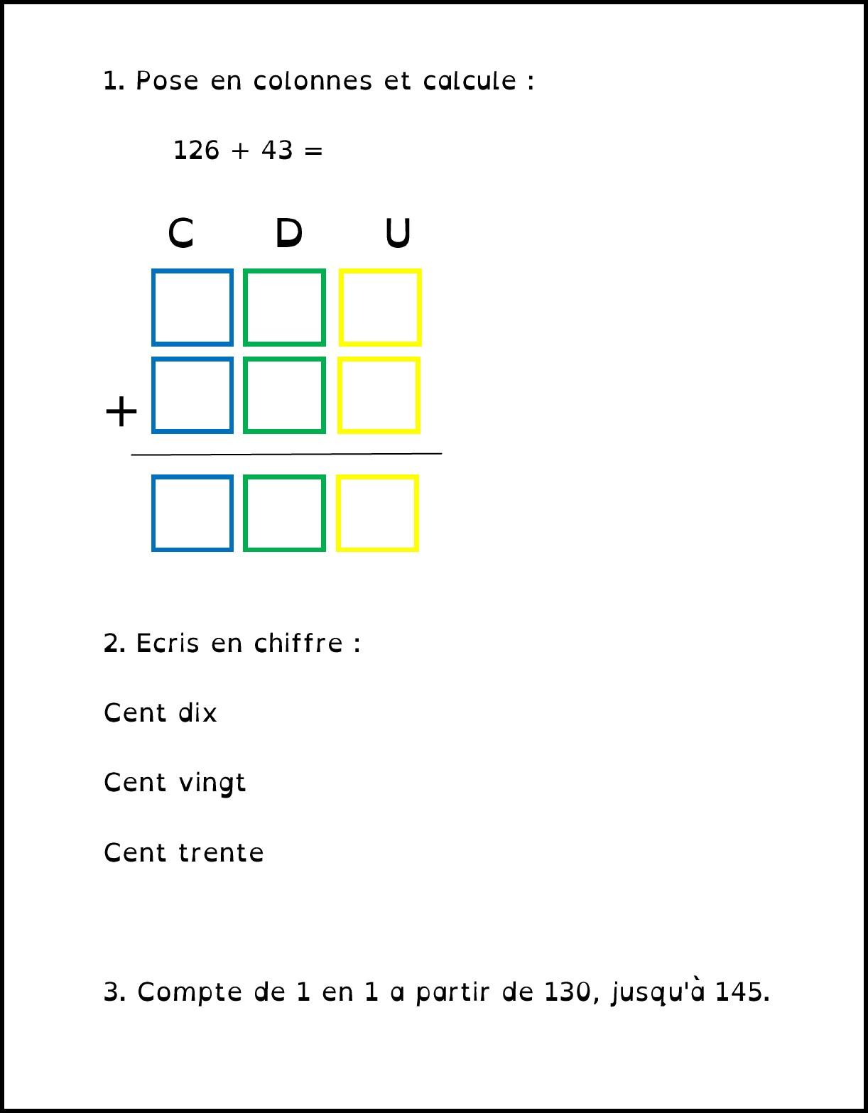 image addition et écriture nbrs