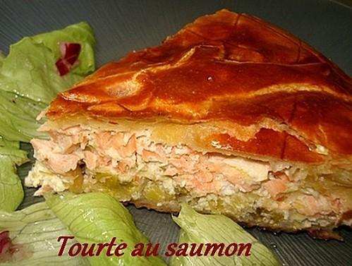 Tourte saumon poireau assiette t