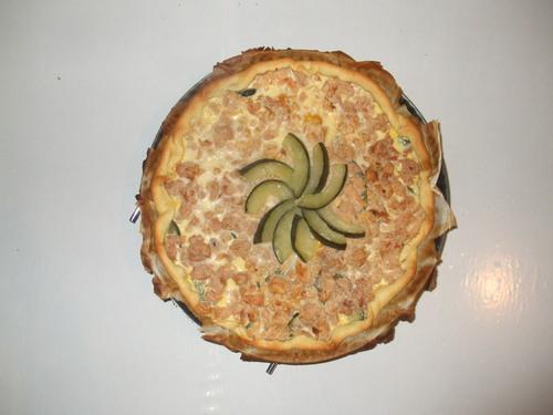 Quiche thon-courgettes