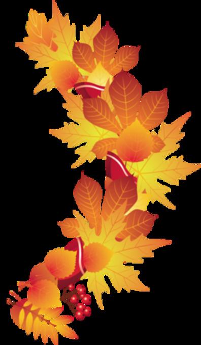 Golden Autumn - corner - PNG