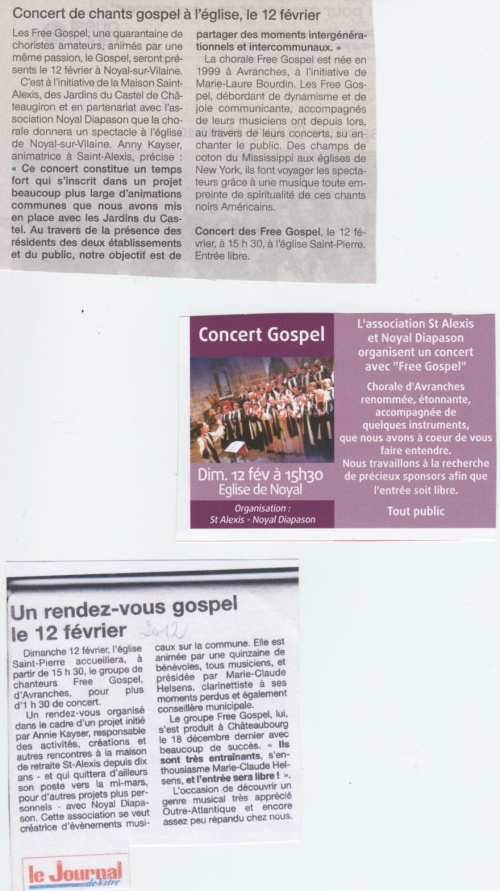 Articles concert Gospel 2012