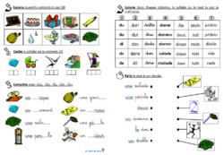 Phonologie : fiches d'exercices sur les sons étudiés au CP