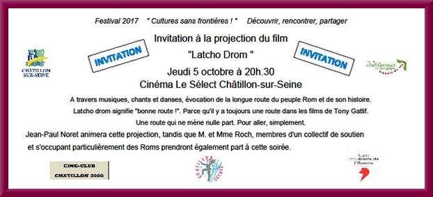 """Châtillon-Scènes présente au cinéma le Select, un film   """"Latcho Drom"""" de Gatlif sur"""
