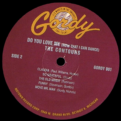 """The Contours : Album """" Do You Love Me [ Now That I Can Dance ] """" Gordy Record 901 [ US ]"""