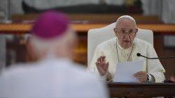 Le Pape François lors de sa rencontre avec les évêques de Thaïlande et d'Asie