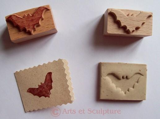 tampon chauve-souris artisanal en bois - Arts et Sculpture: sculptrice, artisan d'art