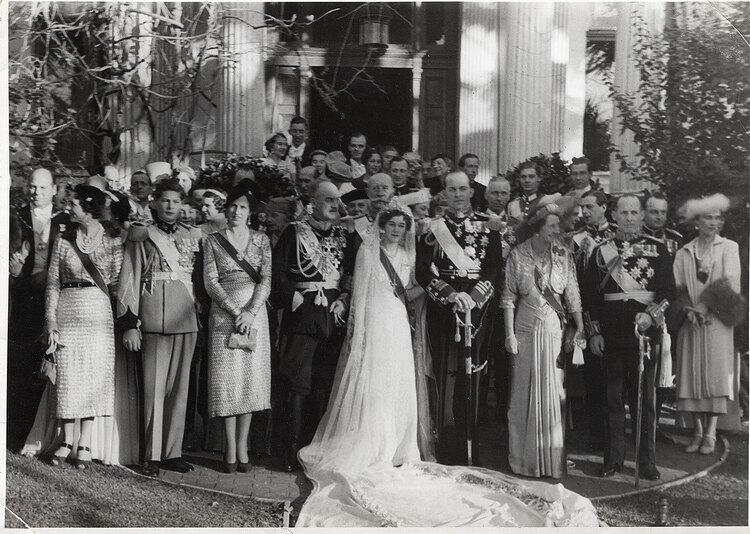 Archive : mariage de Paul et Frederika de Grèce en 1938