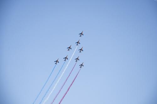 La patrouille de France ...