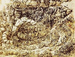 1512 Léonard de Vinci Etude de déluge, Windsor